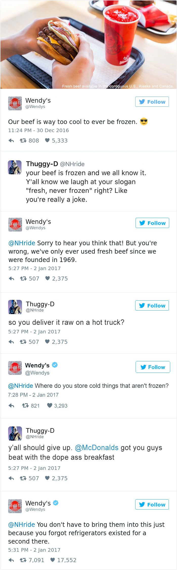 Guy Deletes His Twitter Account After Wendy's Roast