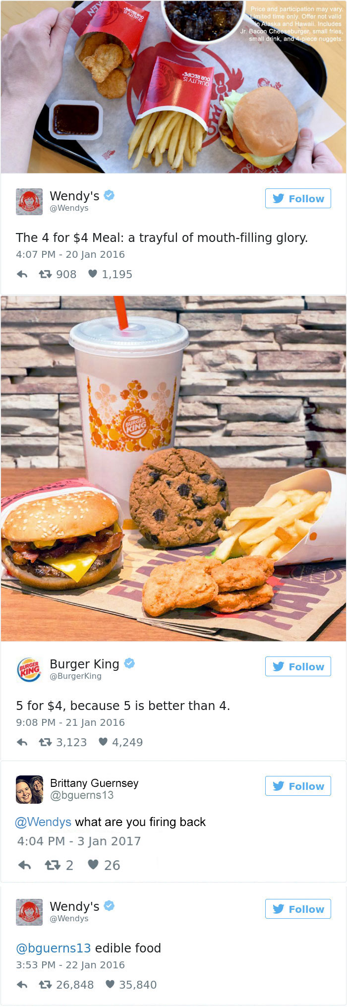 Wendy's Versus Burger King