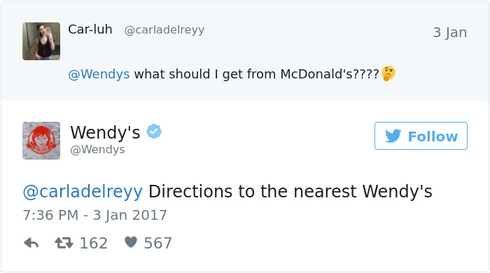 Just Ask For Wendy's Directions