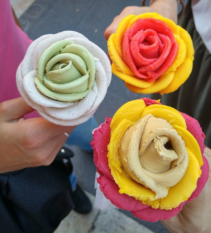 10 Photos Gelato Flowers Ice Cream, And It's Better Than Flowers!