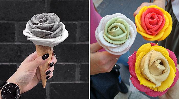 La última tendencia son las flores de helado, ¡mejores que las flores de verdad!