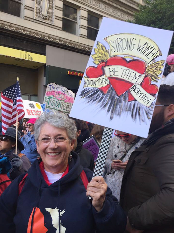 My Beautiful Grandma With Her Amazing Sign Out In La At The Women's March
