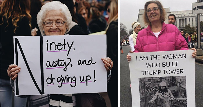 10+ Nasty Grandmas Who Can't Believe They Still Have To March For Women's Rights