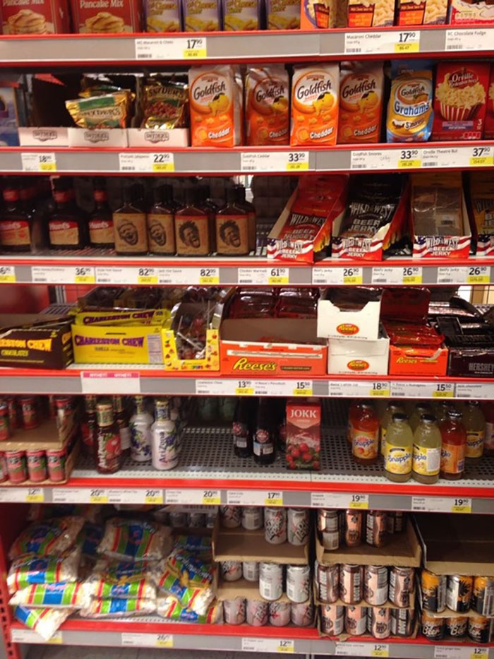 In Sweden They Have An American Food Section