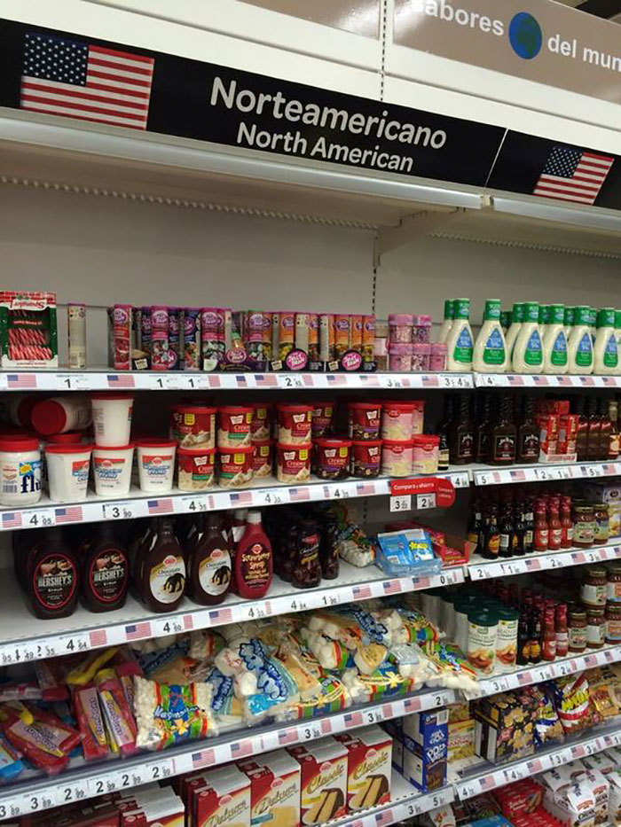 American Section In A Spanish Supermarket Sums Up The Stereotype