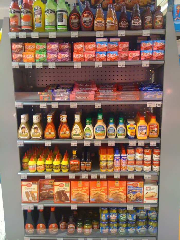 Denmark. This Is A Typical 'american' Section In A Scandinavian Grocery Store.