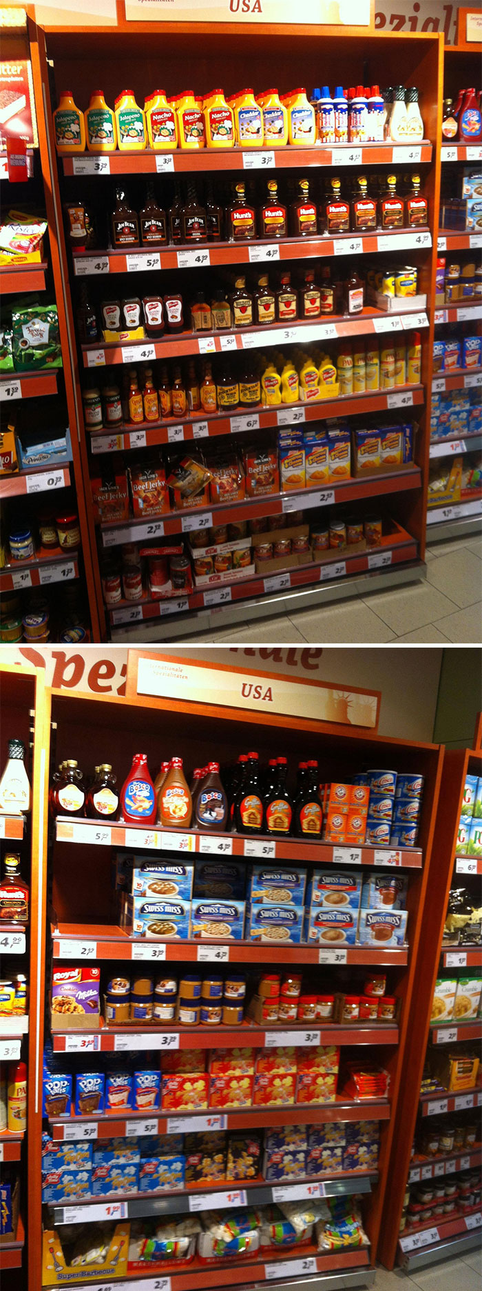 American Food In German Super Market