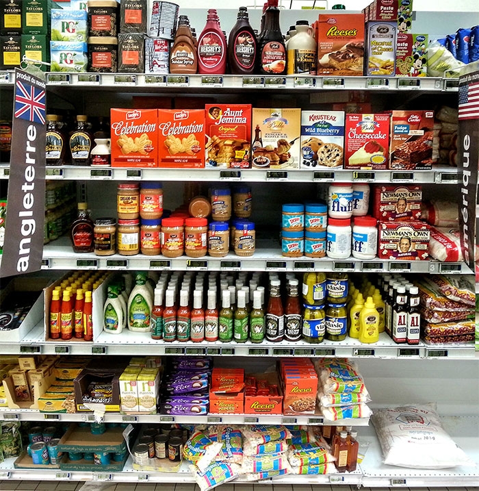 The American Food Section In My Local Supermarket - North Suburb Of Paris