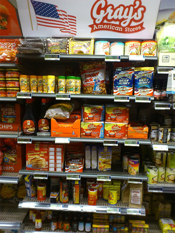 We Have A Special Shelf For American Food In Most Swedish Supermarkets. It's Disgustingly Delicious.