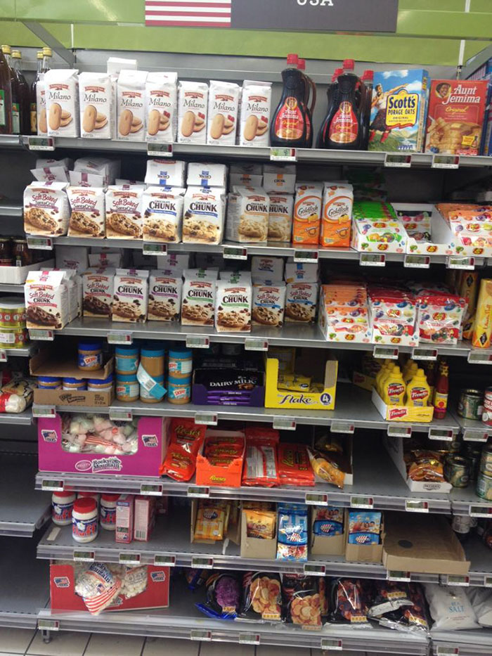 American Food Section In France
