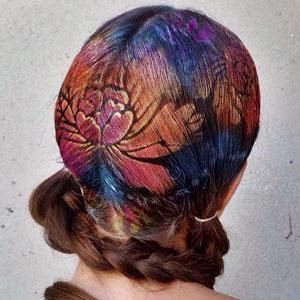 Hair Stencil Art