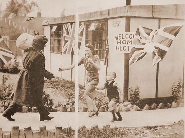 Gunner Hector Morgan Returning Home, 1945