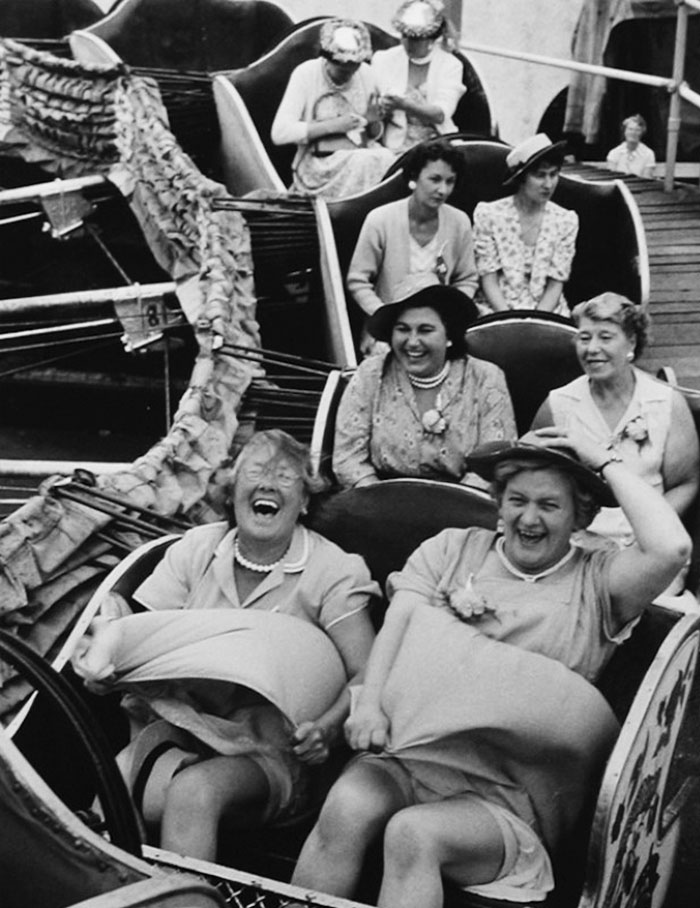 On The Caterpillar, Women's Pub Outing, Clapham, London, 1958