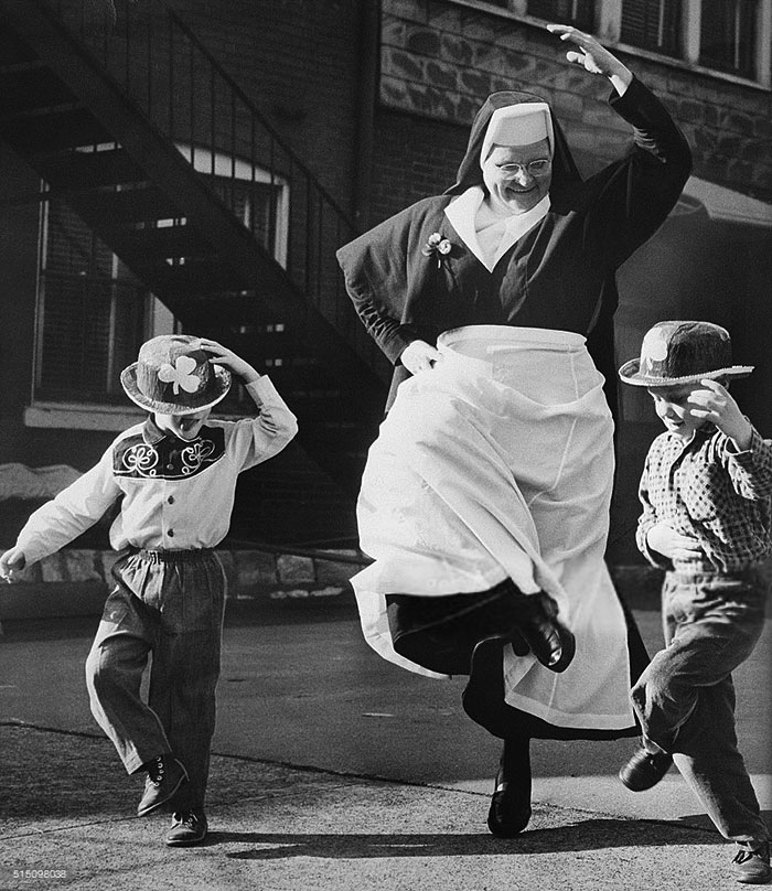 Nun Dancing With Children, 1964