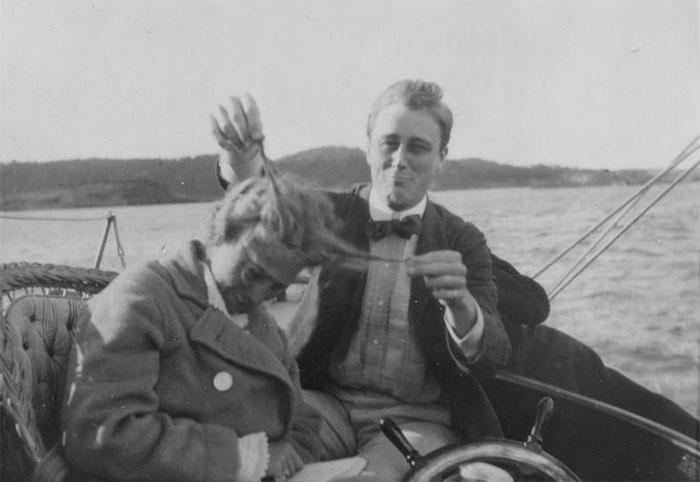 The Future 32nd President Of The United States, Franklin D. Roosevelt, With His Cousin, 1910