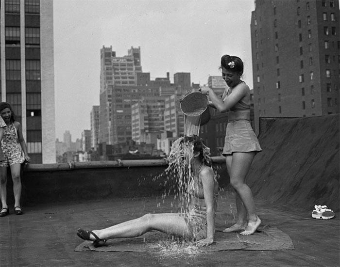 Ice Bucket Challenge, NYC, 1943