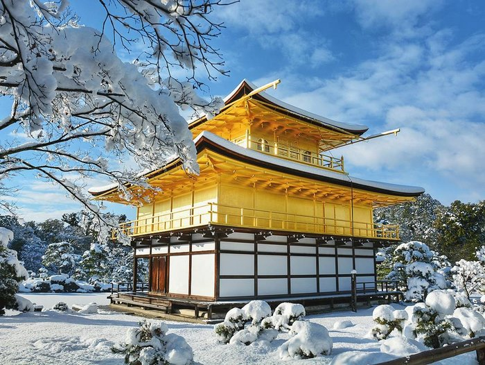 Heavy Snowfall In Kyoto