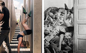 Artist Shames Tourists Taking Disrespectful Selfies At The Holocaust Memorial Site In Berlin (NSFW)