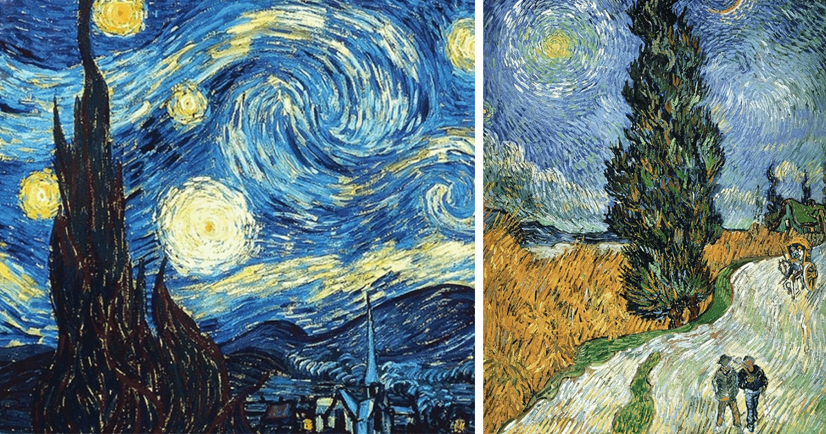 I bring van gogh s paintings to life by making them move for Mural van gogh