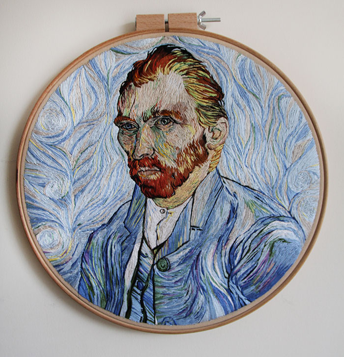 I Spent 350+ Hours Embroidering This Self-Portrait Of Van Gogh
