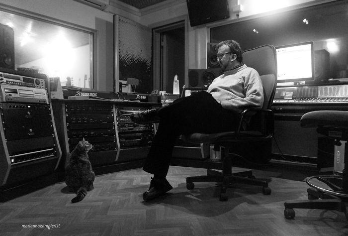 Athena & Mario At The Recording Studio