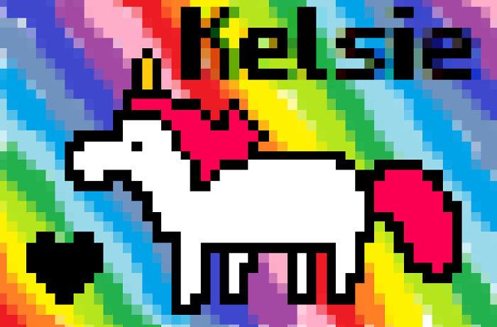 Pixel Kelsiecorn!
