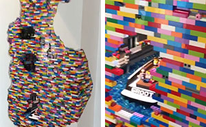 Incredible Lego Wall Installation