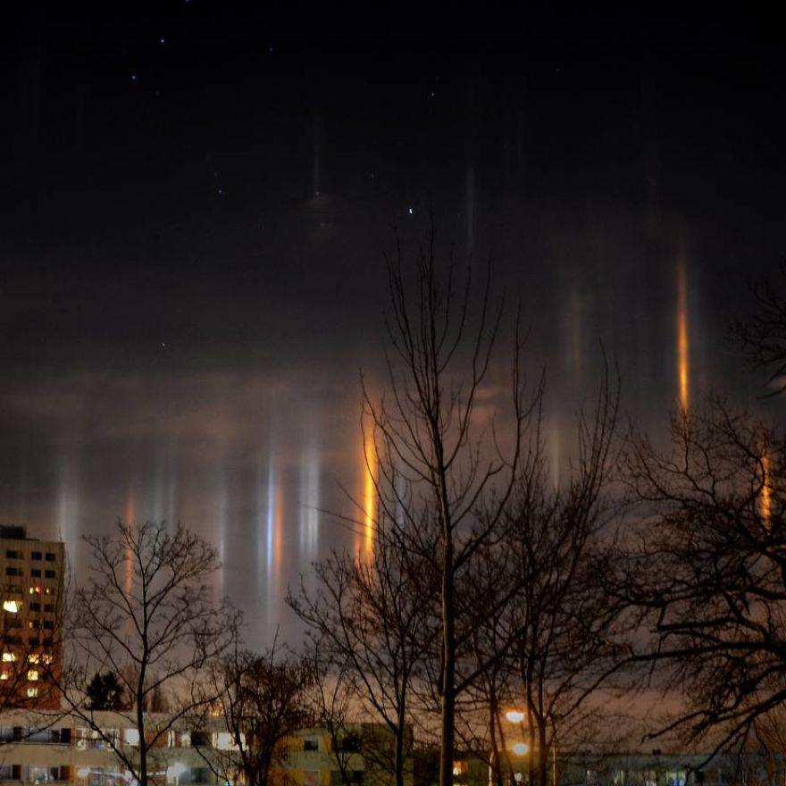 Light Pillars In Aftonbladet