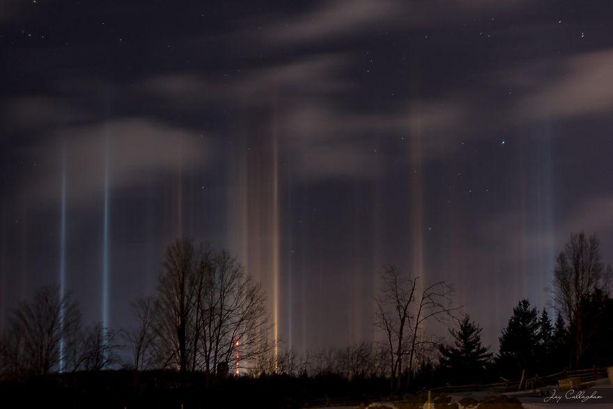 Light Pillars In Ontario