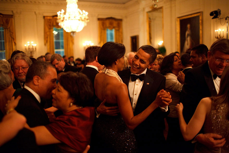 President Barack Obama And Michelle Obama Dance At The Governors Ball, 2009