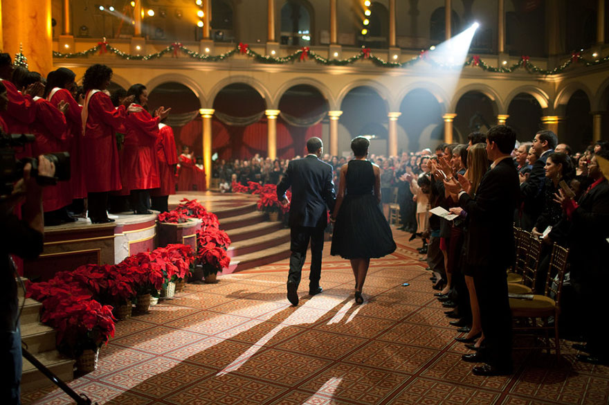 President Barack Obama And First Lady Michelle Obama Attend The 'Christmas In Washington' Taping At The National Building Museum In Washington, D.C. On Dec. 13, 2009