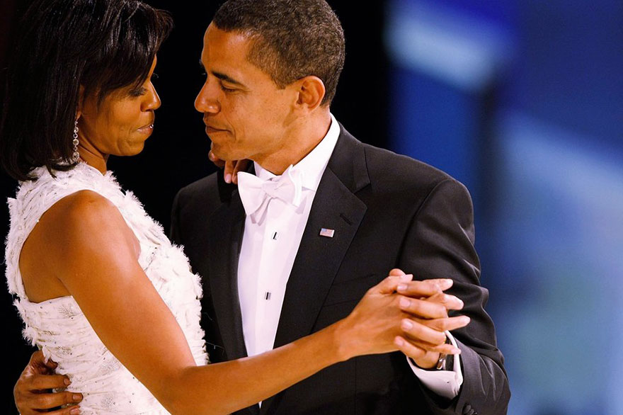President Barack Obama Dances With His Wife And First Lady Michelle Obama During The Western Inaugural Ball On Jan. 20, 2009 In Washington, DC
