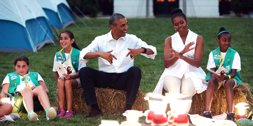 At The First-ever White House Campout, 2015