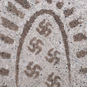 Man Leaves Swastika Footprints Everywhere He Goes After Accidentally Buying Wrong Pair Of Boots