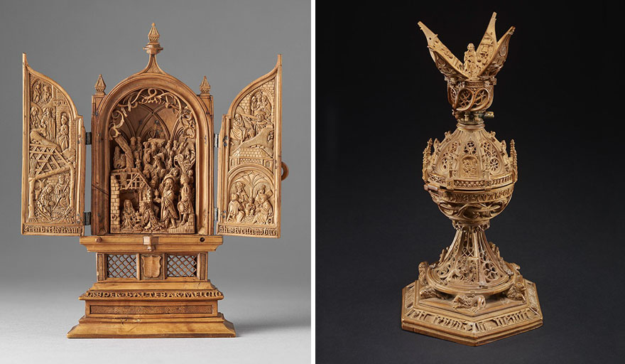 Th century boxwood carvings are so miniature researchers used x