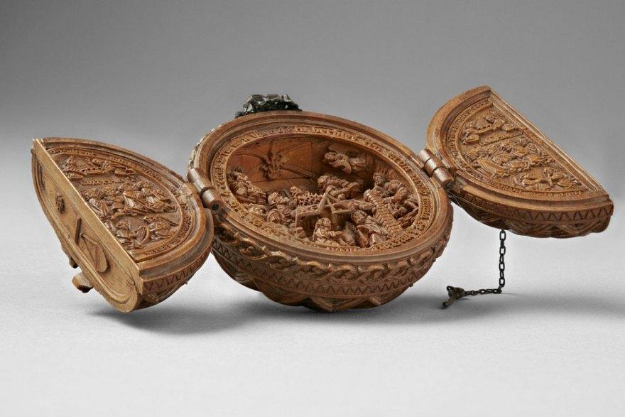 miniatura de boj tallados al 16 del siglo-4