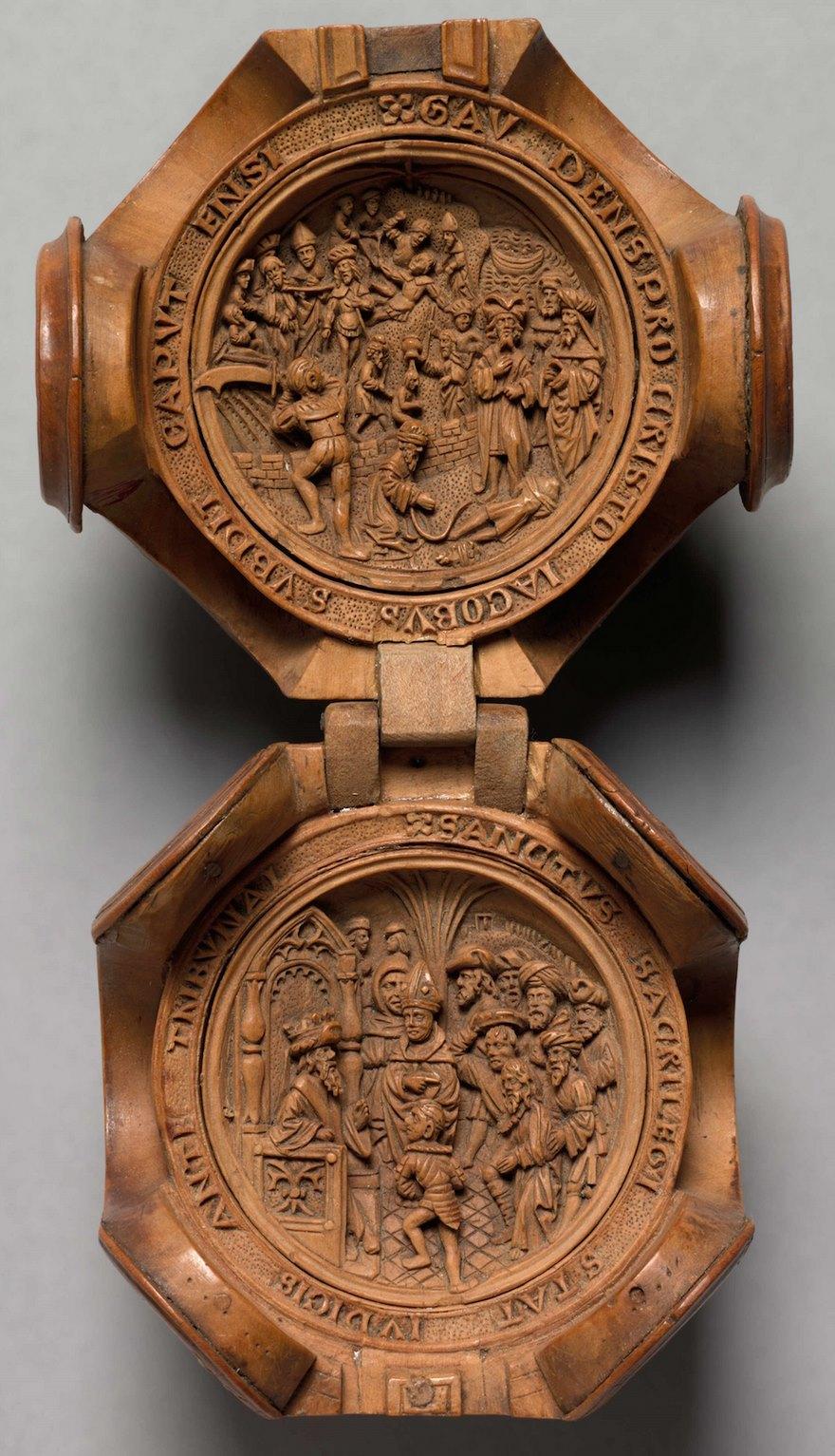 miniatura de boj tallados al 16 del siglo-7