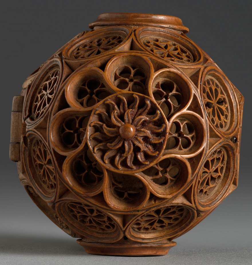 miniatura de boj tallados al 16 del siglo-8
