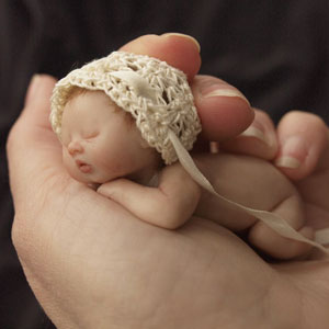 Artist Sculpts Tiny Babies