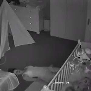 Baby Cam Captures Mom Quietly Sneaking Out Of Son's Nursery, And It's All Of Us