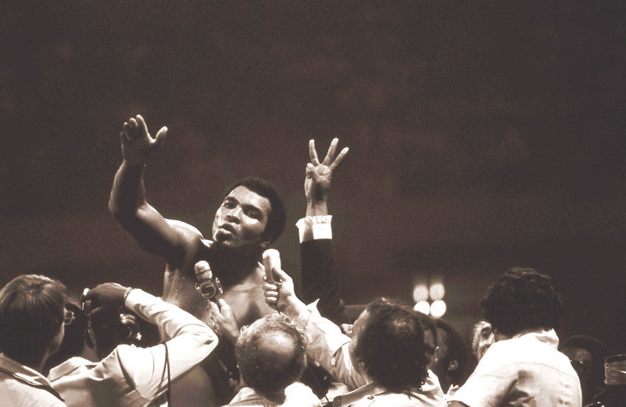 Muhammad Ali Beat Leon Spinks To Win The Heavyweight Championship Of The World For An Unprecedented Third Time , September 15, 1978