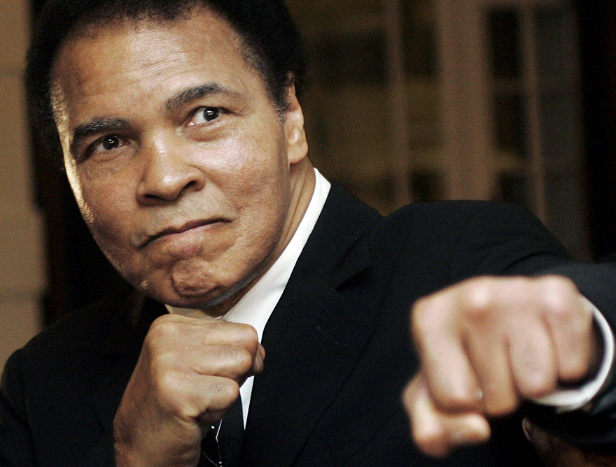 US Boxing Great Muhammad Ali Poses At The World Economic Forum In Davos, 2006