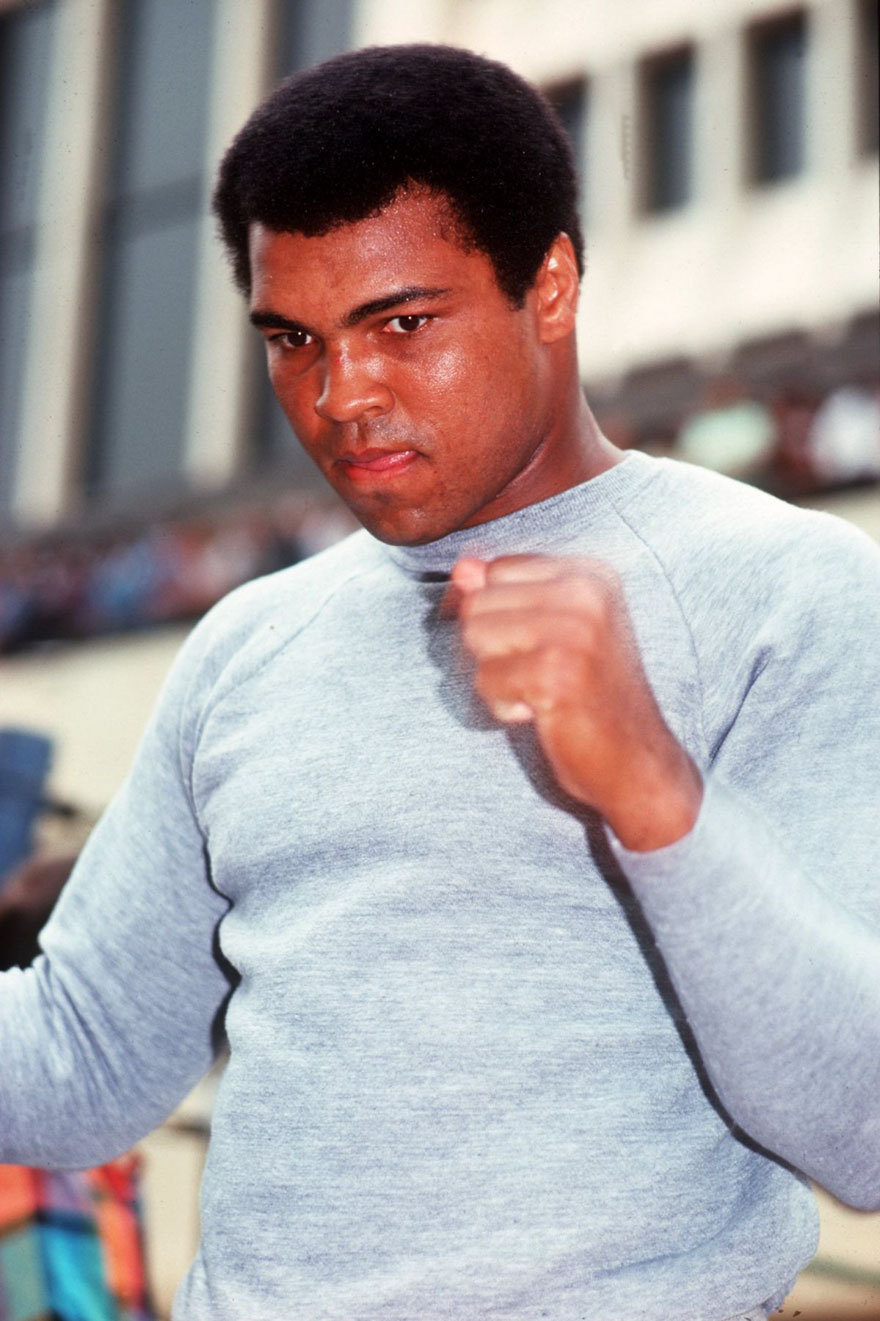 Muhammad Ali During A Training Session