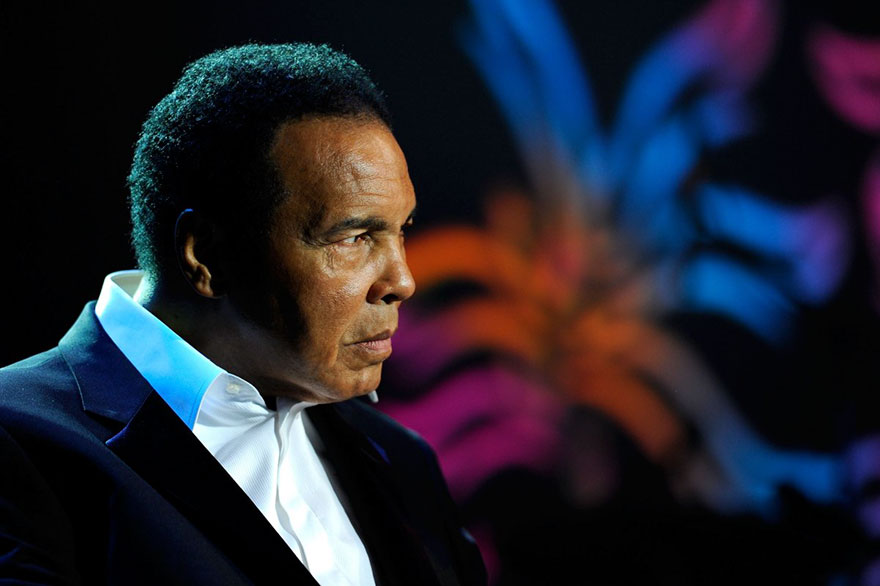 """Muhammad Ali Onstage During The Michael J. Fox Foundation's 2010 Benefit """"A Funny Thing Happened On The Way To Cure Parkinson's"""" At The Waldorf-astoria On November 13, 2010, In New York City"""