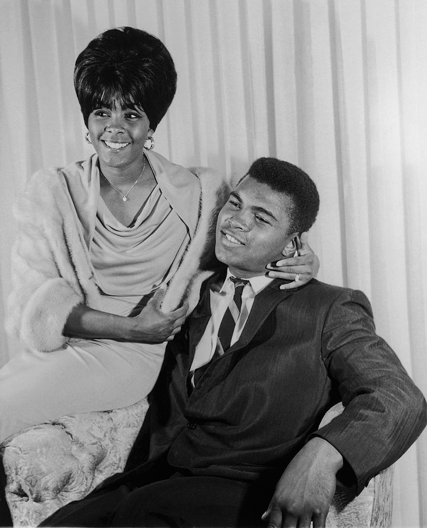 Muhammad Ali Is Photographed With First Wife Sonji Roi In August Of 1964