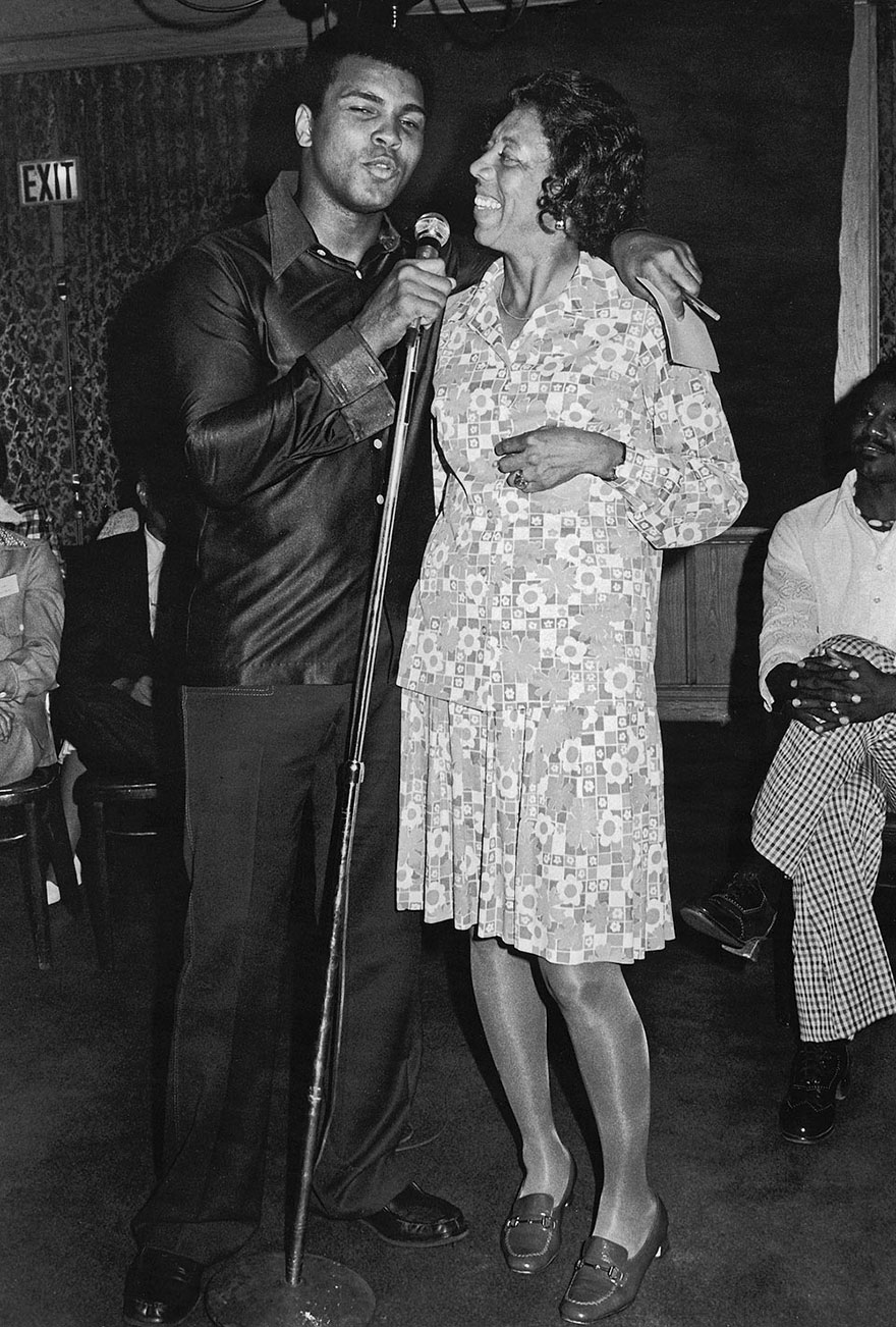 Muhammad Ali Hams It Up On Stage With Tennis Star Althea Gibson During A Press Party Television Special In July, 1975