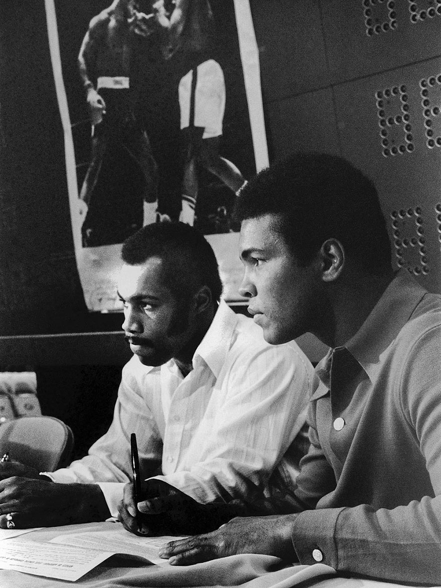 Muhammad Ali Is Photographed With Fellow Boxer Ken Norton During The Time Of Their Anticipated Fight In March Of 1973