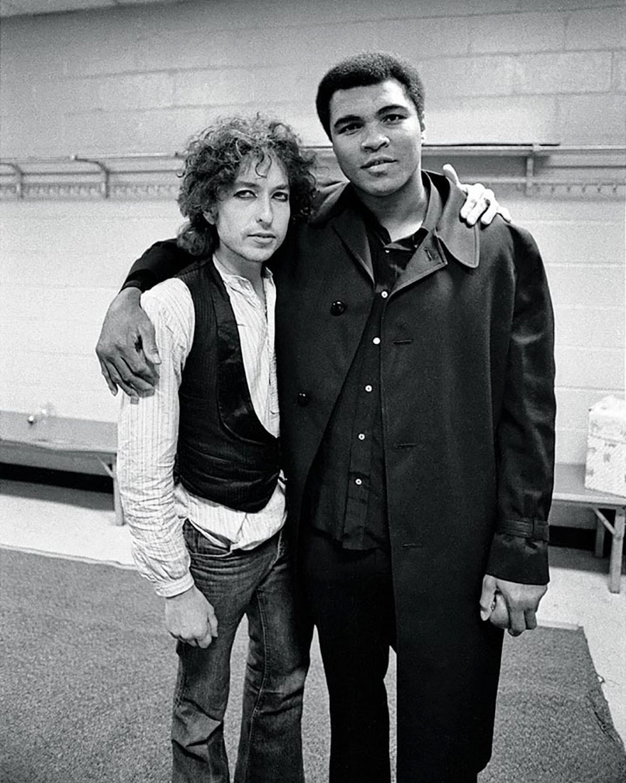 Muhammad Ali With Bob Dylan
