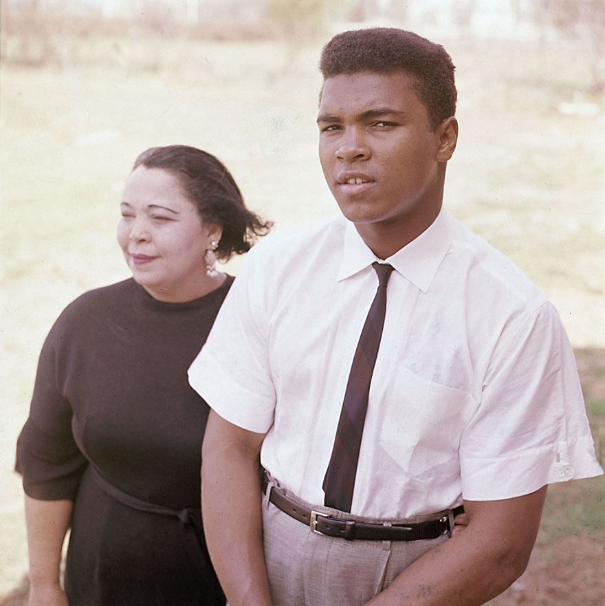 Young Boxer Cassius Clay Is Seen With His Mother, Odessa Grady Clay, April 2, 1963