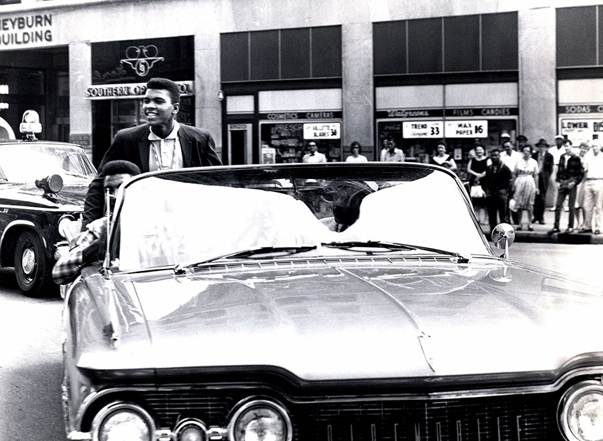 Clay Riding Through Louisville After The 1960 Olympics